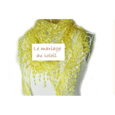 -70% Destockage Etole dentelle jaune