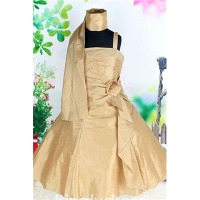 - 60 % Robe fillette Balisier Champagne T 11/12