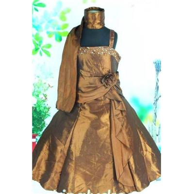 - 60 % Robe fillette Balisier chocolat T 10/11